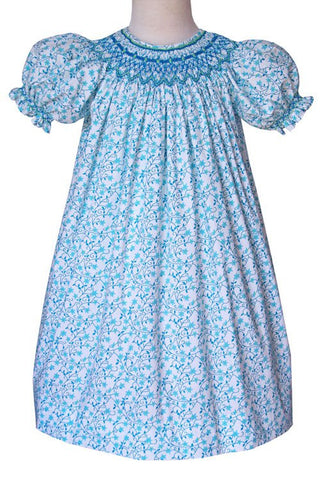 Girls Athena shooting stars smocked bishop dress--Carousel Wear - 2