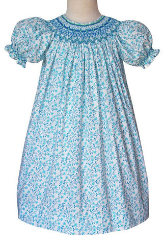 Girls Athena shooting stars smocked bishop dress--Carousel Wear - 1