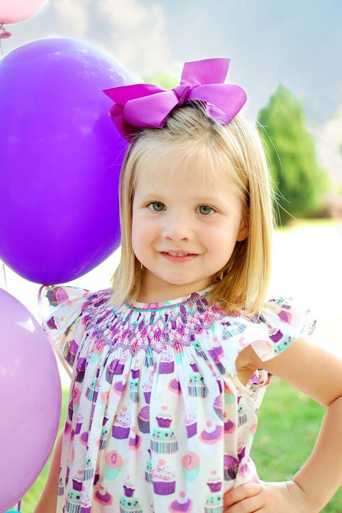 8285051ee ... Cupcakes Baby Girls First Birthday Bubble Romper Sophie--Carousel Wear  - 3