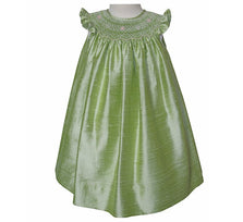 Anamarie Green Silk Bishop Dress for Girls--Carousel Wear - 1