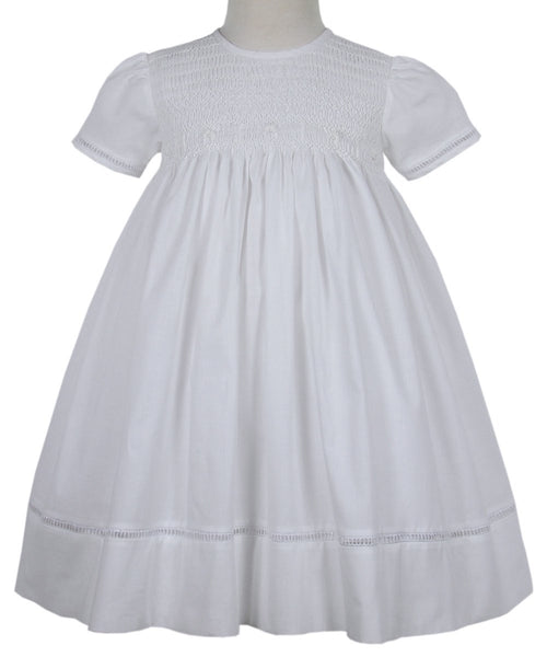 Faith special occasion white heirloom baby girls dress 18 months--Carousel Wear - 1