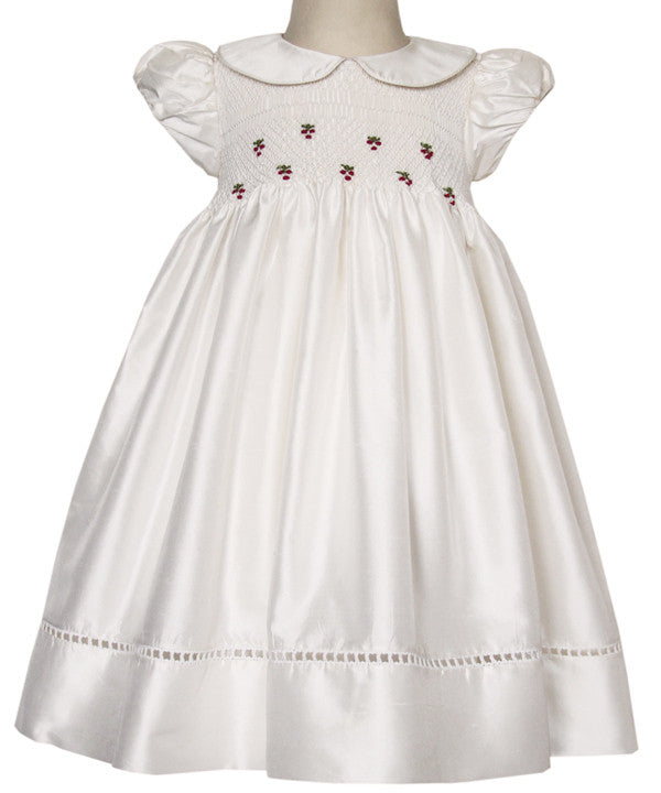 Baby Girls Silk Special Occasion Ivory Alexa Dress--Carousel Wear - 1