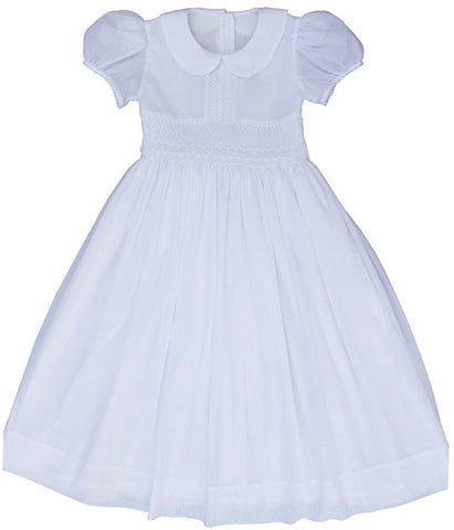 Holy First Communion Older Girls Dress Hand Smocked Size 12--Carousel Wear