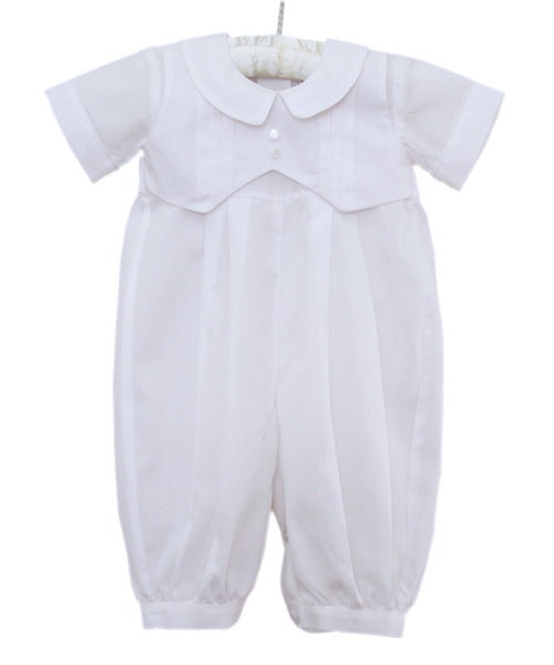 Christening Dedication Boys White Outfit Overalls Thomas--Carousel Wear