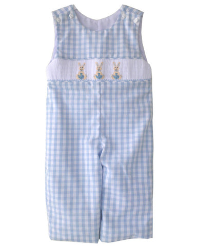 Little Boys Longall with Smocked Easter Bunnies and Shirt--Carousel Wear