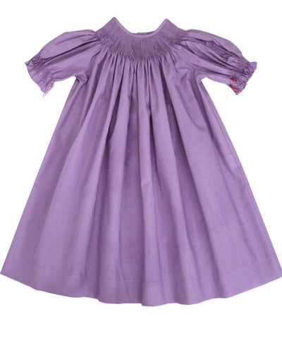 Ready to smock girls lavender dress