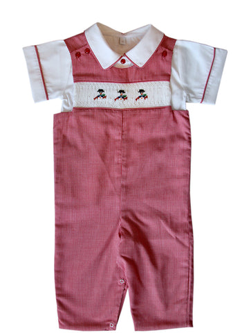 Hand Smocked Christmas Boys Longalls
