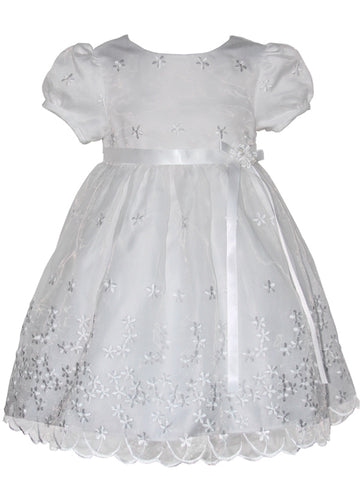Baby Girls White Embroidered Christening Dress 24m