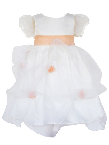 Baby Girls White Organza Dedication Dress 24m/2T