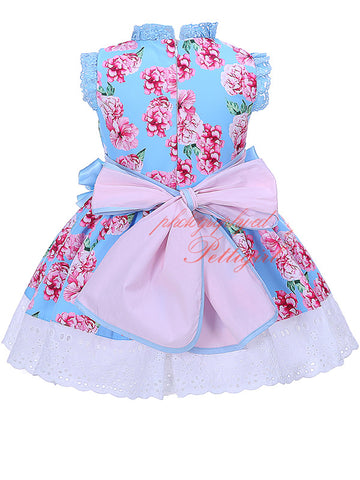 Vintage Floral Girls Dress 4T