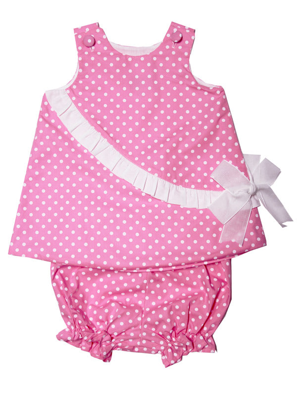 Red Polka Dot Baby Girl Bloomers Final Closeout!