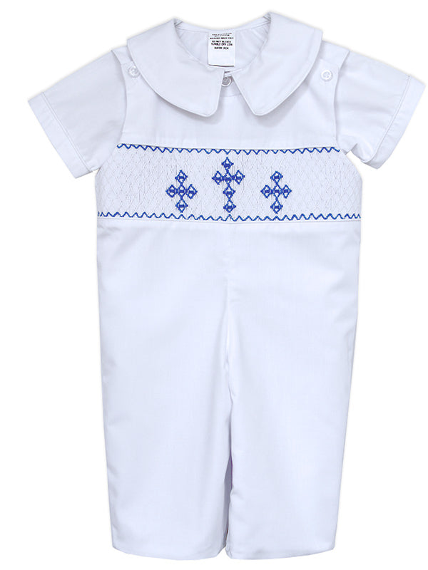 Smocked Baptism Christening Boys Outfits