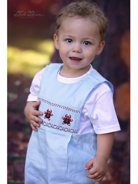 Christmas Hand Smocked Gingerbread Cookies Boys Longall