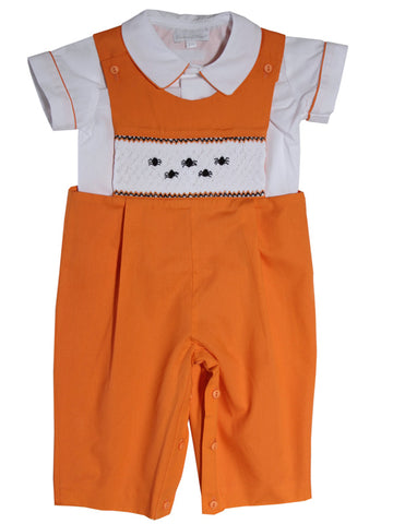 baby and toddler boys halloween fall smocked longall