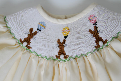 Girls Easter Chocolate Bunny Dress--Carousel Wear - 4