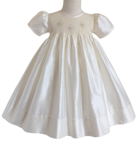 Formal Baby Girls Ivory Silk Dress Maggi--Carousel Wear