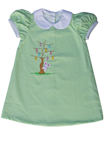 Easter Bunny Girls A-Line Dress with Peter Pan Collar 50% off