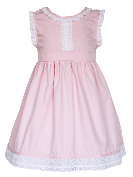 Baby Girls Pink Tunic Dress with White Lace 24m
