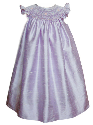 Heirloom Lavender Silk Dress for Little Girls
