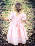Pink smocked dresses for girls