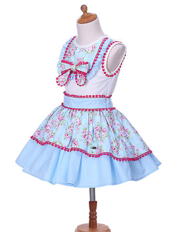 Girls Summer Pom-Poms Skirt and Top Dress 4T