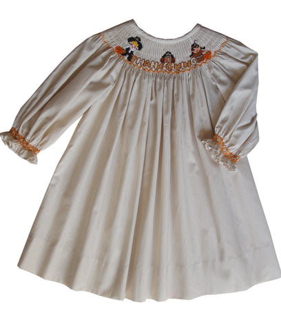 Thanksgiving Long Sleeved Girls Bishop Dress--Carousel Wear - 2