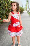 Gorgeous Red Ruffle Girls Summer Dress Mia--Carousel Wear - 5
