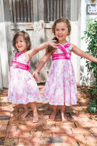 Fireworks Pink Girls Floral Easter Dress--Carousel Wear - 1
