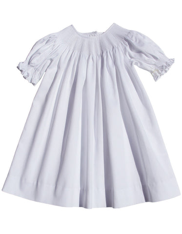 Girls White Dresses Smocked And Embroidered