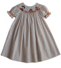 Thanksgiving Girls Bishop Dress with Smocked Pilgrims Turkey and Indian--Carousel Wear - 5