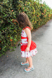 Gorgeous Red Ruffle Girls Summer Dress Mia--Carousel Wear - 6