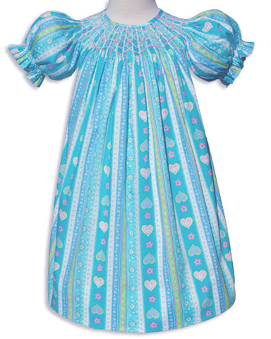 Girls smocked summer dress and clothing