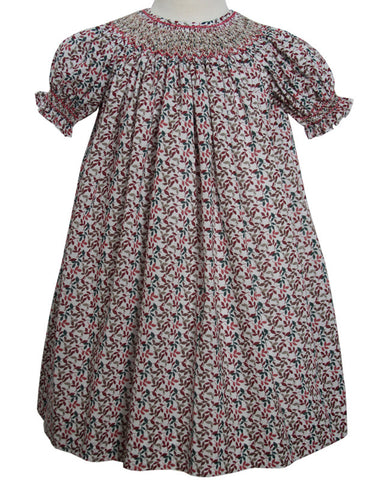 Hand Smocked Girls Bishop Dresses with Fall Leaves--Carousel Wear