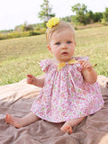 Baby Girls Spring Floral smocked bishop dresses