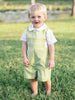 Hand Smocked Baby Boys Easter Shortall