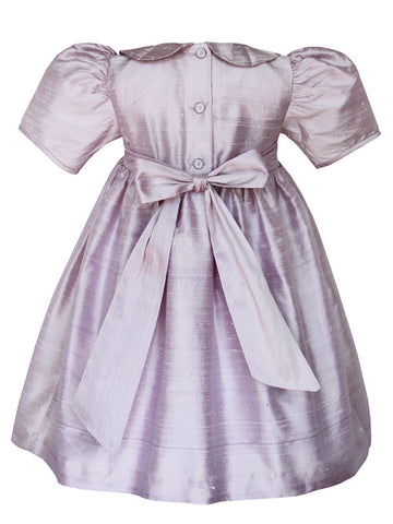Flower Girls lavender Silk Dresses Gown