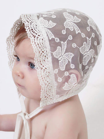 Heirloom Lace Bonnet for Baby Girl