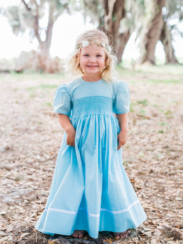 Sky Blue Dresses for Girls