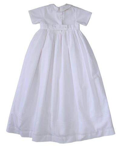 Little Boys Embroidered Cross Christening Gown in Cotton--Carousel Wear - 2