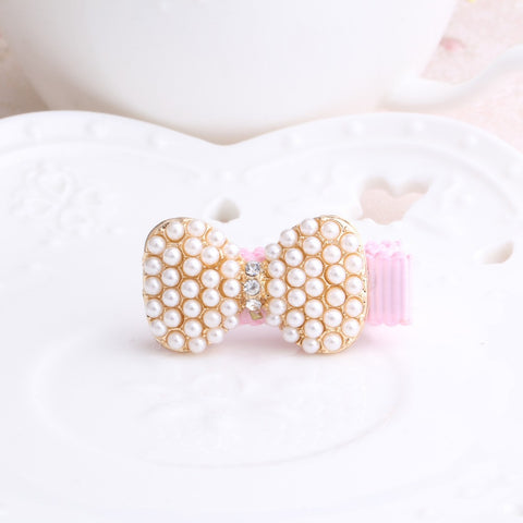 Baby Girl Hair clip Bowknot with Beads Pearls--Carousel Wear