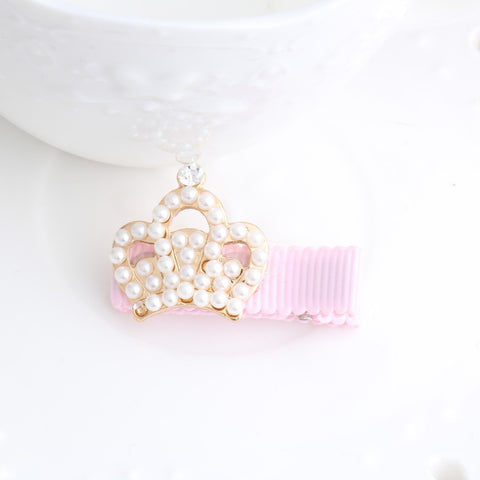 Baby Girls Crystal Crown Hair Clip--Carousel Wear - 2