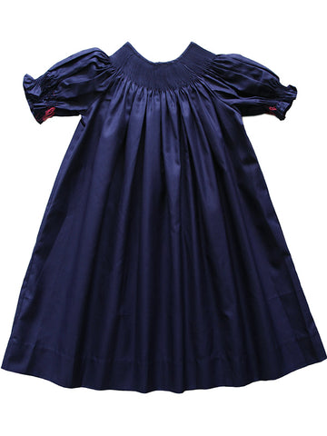 Ready to smock girls holiday bishop dress