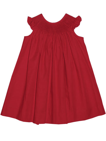 RTS Ready To Smock Red Summer Bishop Dress