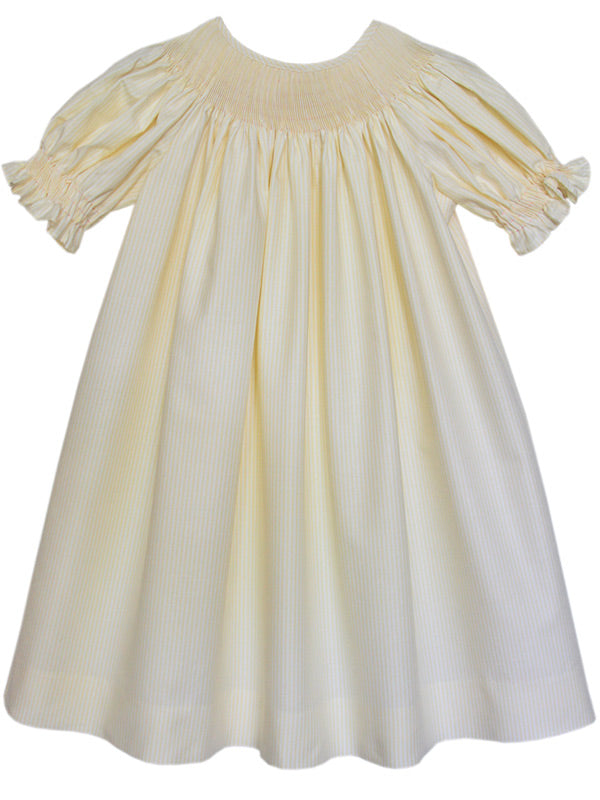Ready to Smock Girls Yellow Bishop Dress