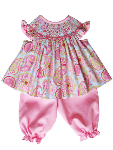 Baby Girls and Toddlers Pink Smocked Dress Outfit