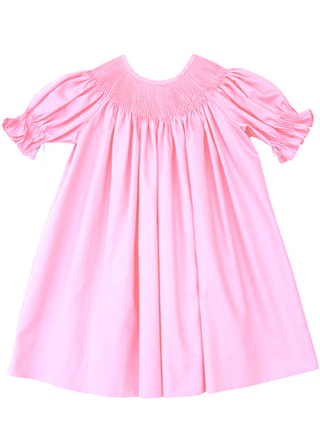 ready to smock girls pink bishop dress r2s