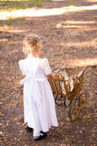 Heirloom Girls White Hand Smocked Dress