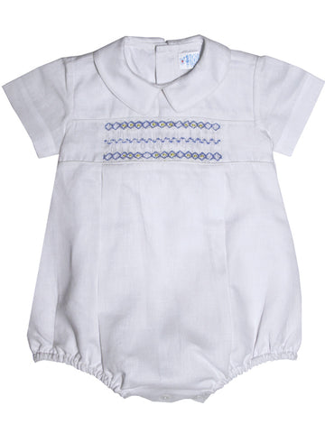 Baby Boy Christening Hand Smocked Bubble