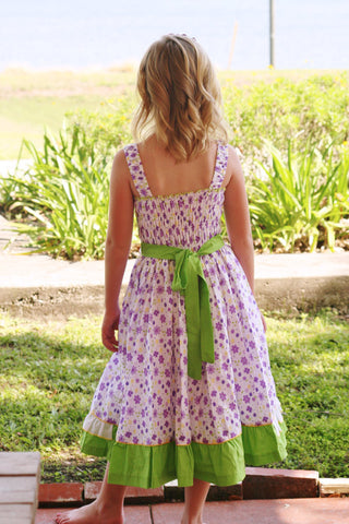 Beautiful violet green girls summer dress 3m 6m--Carousel Wear - 2