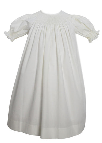 Girls Ready to Smock ~ for Smocking Bishop Dress in Ivory Color RTS sz 7--Carousel Wear - 2